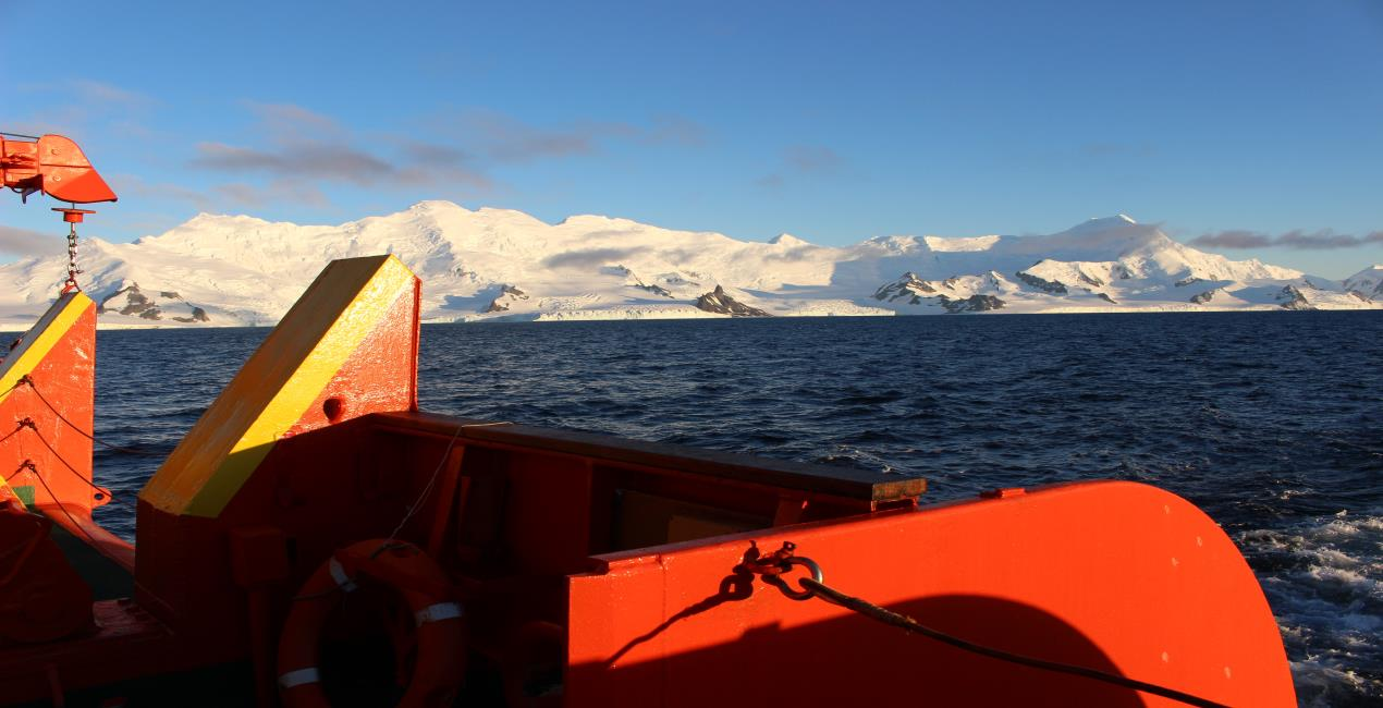 South Shetland Islands, King George Island view from HESPERIDES R/V
